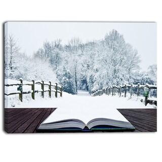 Designart - Winter Wonderland - Landscape Contemporary Artwork