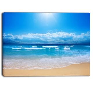 Designart - Paradise Beach  Seascape Photography Canvas Print
