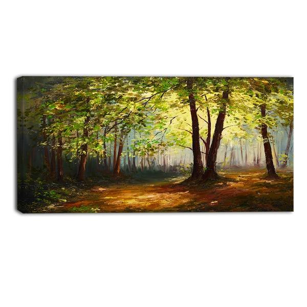 Designart summer forest landscape canvas art print for Forest landscape design