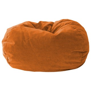 Gold Medal Orange Sueded Corduroy Teen Beanbag