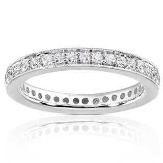 Annello by Kobelli 14k Gold 1/2ct TDW Diamond Eternity Band (G-H, I1-I2)