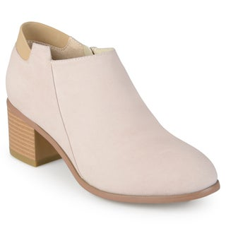 Journee Collection Women's 'Miley' Faux Suede Ankle Booties