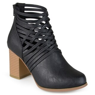 Journee Collection Women's 'Alicia' Round Toe Strappy Booties