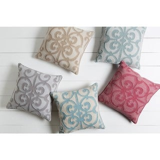 Decorative Linen Ingraham 22-inch Poly or Feather Down Filled Throw Pillow