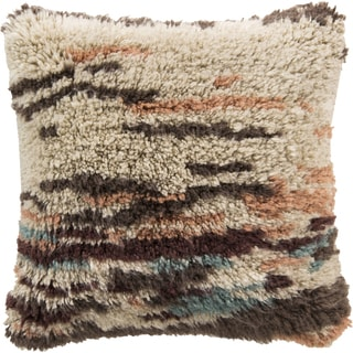 Decorative Wool  Wilson 22-inch Poly or Feather Down Filled Throw Pillow