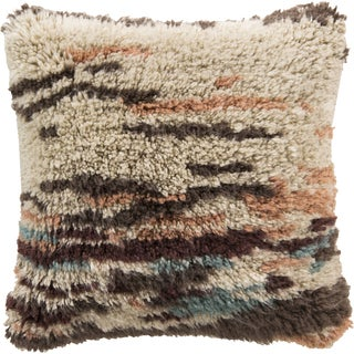 Decorative Wool Wilson 22-inch Poly or Down Filled Throw Pillow