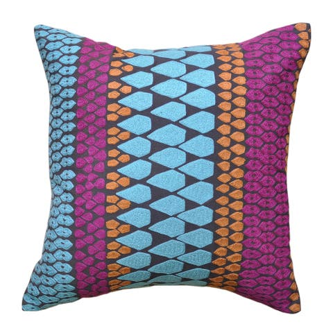 Cottage Home Lola Cotton 16 inch Throw Pillow