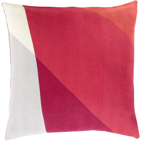 Decorative Lennon 18-inch Poly or Feather Down Filled Throw Pillow
