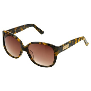 Laura Ashley Women's Tokyo Tortoise Large Updated Retro Round Sunglasses