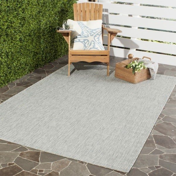 Safavieh Indoor Outdoor Courtyard Grey Turquoise Rug 4
