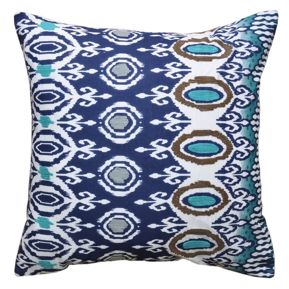 Shop Cottage Home Risa Cotton 18 Inch Throw Pillow - Overstock - 11332655