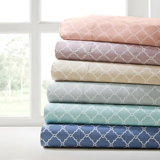 Madison Park Printed Fretwork Cotton Sheet Set