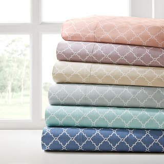 Madison Park Printed Fretwork Cotton Sheet Set|https://ak1.ostkcdn.com/images/products/11332681/P18308210.jpg?impolicy=medium