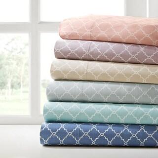 Madison Park Printed Fretwork Cotton Sheet Set