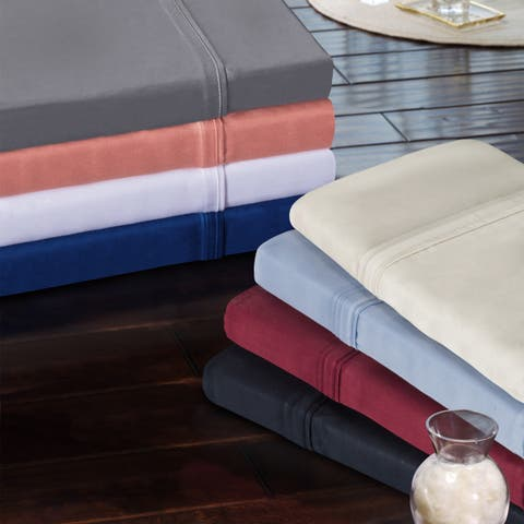 Superior 300 Thread Count Modal Solid Pillowcase Set (Set of 2)