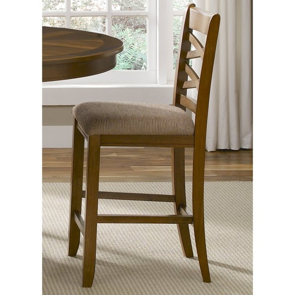 shop liberty bistro honey double x back counter height barstool