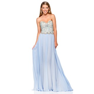 Terani Couture Women's Srapless Chiffon Prom Gown