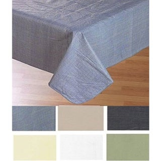 Carnation Home Fashions 52'' x 90,'' Vinyl Tablecloth with Polyester Flannel Backing