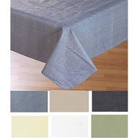 Carnation Home Fashions 52'' x 52,'' Vinyl Tablecloth with Polyester Flannel Backing