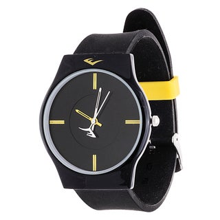 Everlast Slim Men's Round Analog Sport Watch with Black Rubber Strap