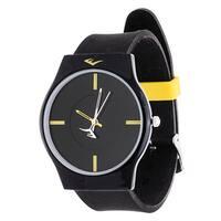 Everlast Slim Men's Round Analog Sport Watch with Black  Rubber Strap