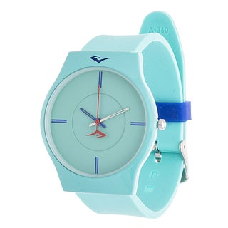 Everlast Slim Men's Round Analog Sport Watch with Turquoise Rubber Strap