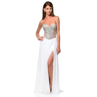 Terani Couture Women's Strapless Sweetheart Prom Gown