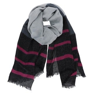 LA 77 Extra Soft Striped Print Scarf