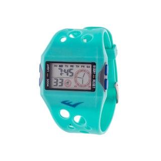 Everlast Retro Men's Digital  Square Sport Turquoise Digital  Watch with Silicone  Strap