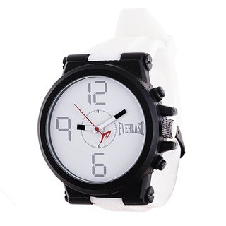 Everlast Jumbo White Round Sport Analog Rubber Watch