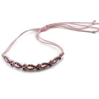 Mama Designs Pink Ribbon Breast Cancer Awareness Bracelet