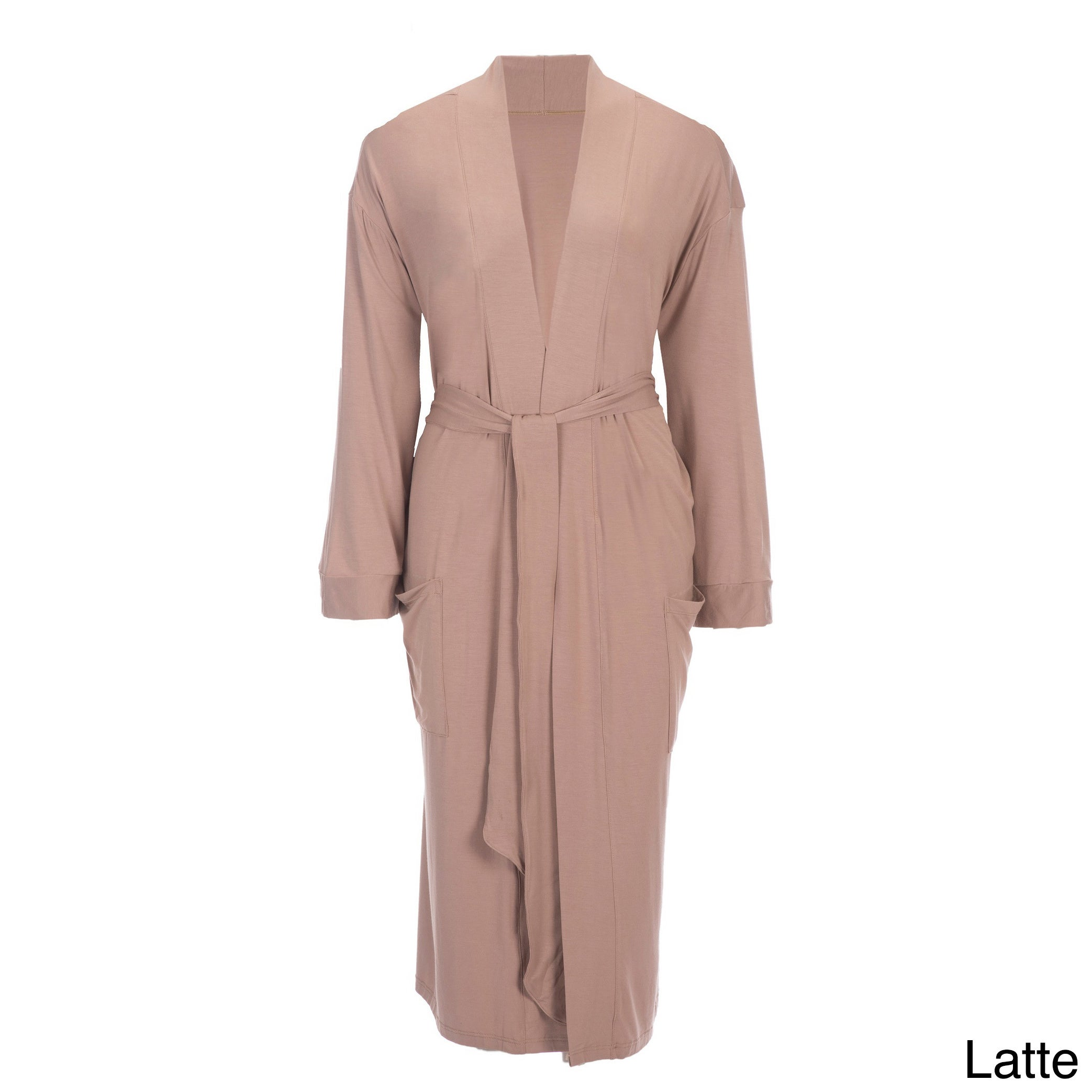 Global Rayon from Bamboo Viscose Robe (Latte S/M), Women'...