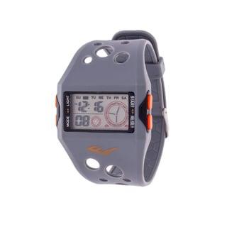 Everlast Retro Men's Digital  Square Sport Grey Digital  Watch with Silicone  Strap