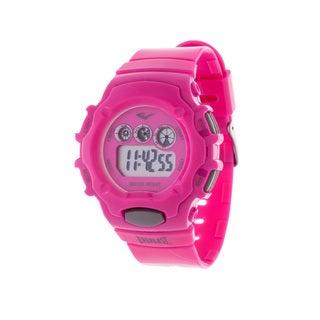 Everlast Pink Retro Men's Digital Round Sport Digital Watch with Rubber Strap