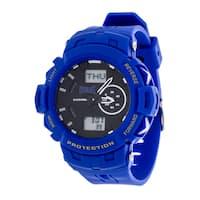 Everlast Sport Men's Analog Digital Round Watch with Blue  Rubber Strap