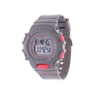 Everlast Grey Retro Men's Digital Round Sport Digital Watch with Rubber Strap