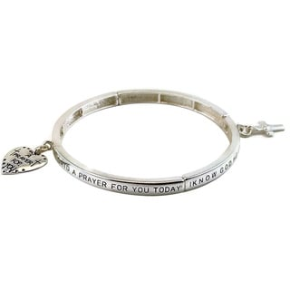 Mama Designs Inspirational Prayer Stretch Bracelet
