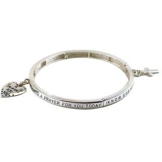 Mama Designs Inspirational Prayer Stretch Bracelet