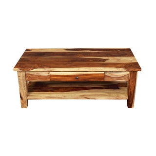 Porter Taos Solid Sheesham Coffee Table with Storage Drawer (India)