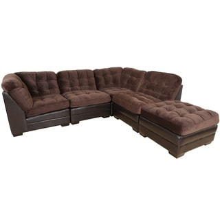 Porter Reid Chocolate Brown Sectional Sofa with Optional Ottoman