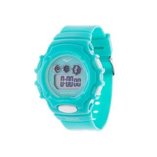 Everlast Blue Retro Men's Digital Round Sport Digital Watch with Rubber Strap