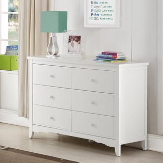 Baby Relax Lakeley White 6 Drawer Dresser