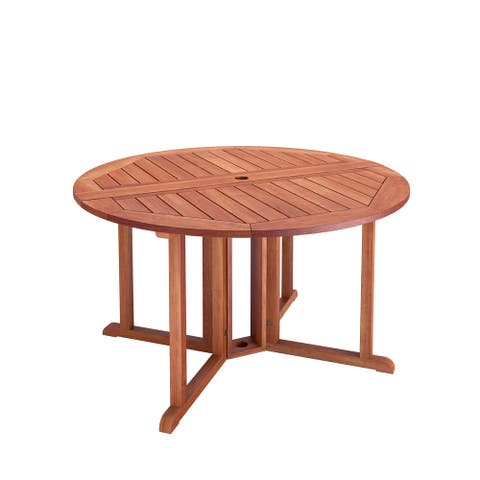 Goodwin Cinnamon Brown Hardwood Drop Leaf Patio Dining Table by Havenside Home