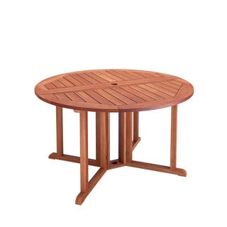 CorLiving Miramar Cinnamon Brown Hardwood Outdoor Drop Leaf Dining Table