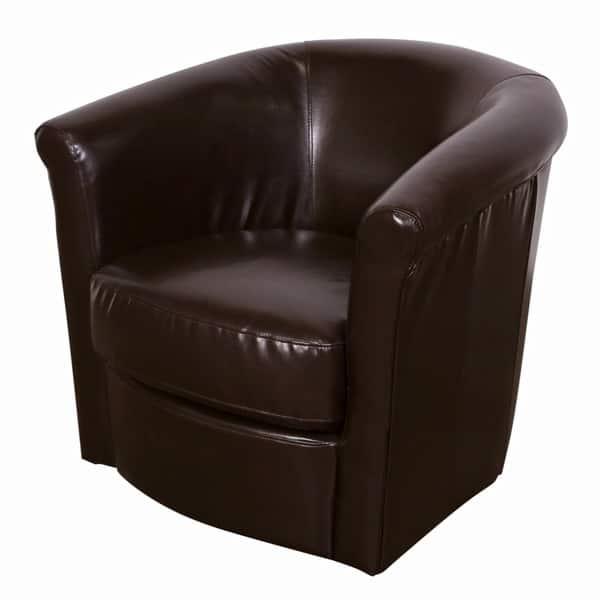 Sensational Shop Porter Marvel Espresso Brown Swivel Barrel Accent Chair Short Links Chair Design For Home Short Linksinfo