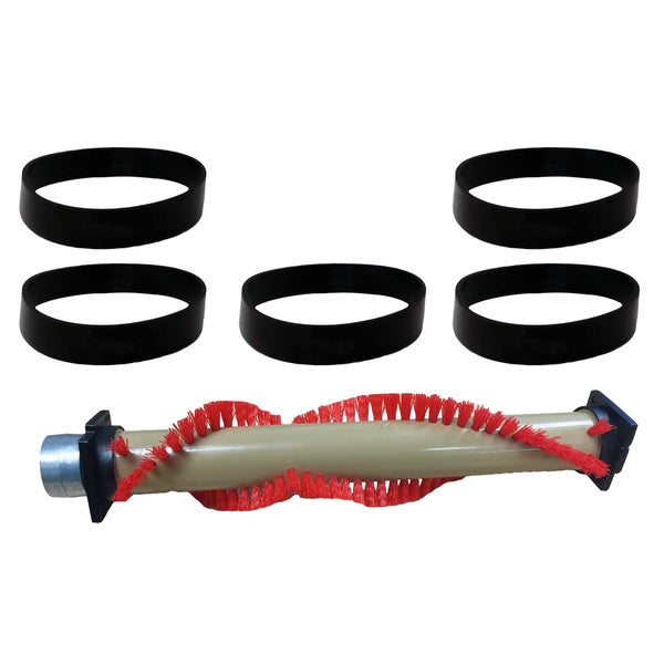 Replacement Roller Brush & 5 Belts, Fits XL Oreck, Compatible with Part 016-1152, 75202-01 & XL010-0604