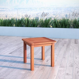 CorLiving Miramar Cinnamon Brown Hardwood Outdoor Side Table