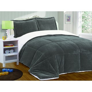 Fashion Street Micro Suede Blanket Comforter 3-piece Set