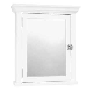 White Colonial Surface Mount Mirrored Medicine Cabinet (Option: White)