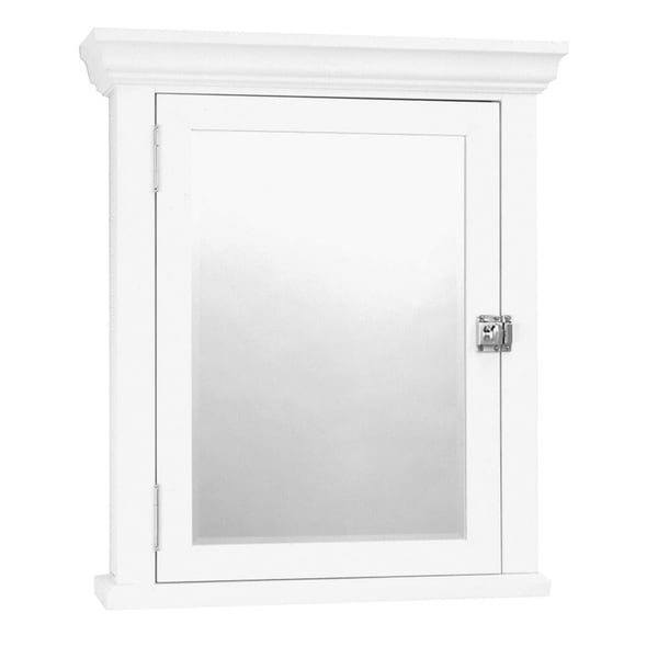 Shop White Colonial Surface Mount Mirrored Medicine Cabinet Free